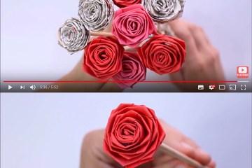 rosas de papel enamorados - Elabora estas fantásticas rosas románticas de papel