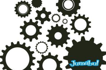 ruedas engranajes industria vectores ruedas dientes vectoriales - Engranajes en Vectores