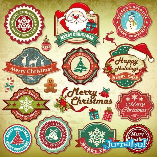 Navidad-vectores-santa