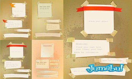 stickers vectores calcos postit - Stickers en Vectores con Estilo Antiguo