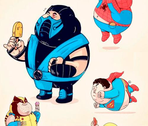 Super Héroes Gordos en JPG o Vectores