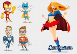super heros vectores gratis - Ilustraciones para Descargar de SuperHéroes en Photoshop