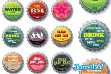 tapitas de cerveza en vectores - Tapas de Bebidas en Vectores - Tapitas de Gaseosas o de Cerveza