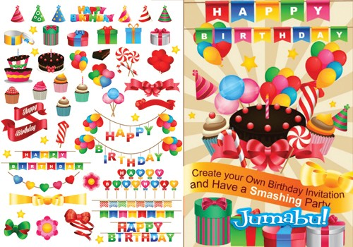 Recursos Para Crear Una Invitación De Cumpleaños En Vectores