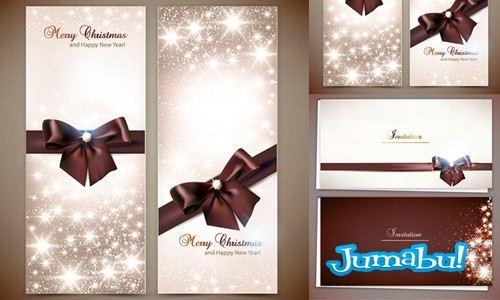 tarjetas navidad vectorizadas - Tarjetas Navideñas en Vectores