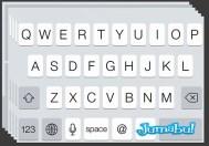 teclado ios7 psd - Elementos del iOs7 en PSD Excelente Calidad