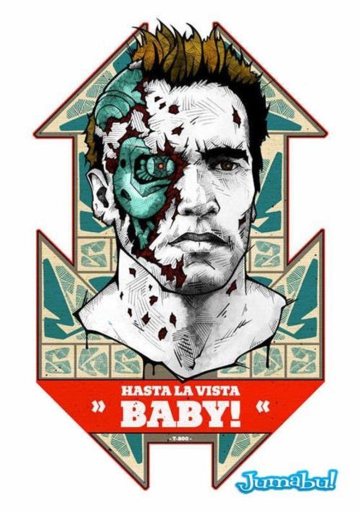 terminator estampa playera 724x1024 - Estampas para tus playeras con la cara de Terminator