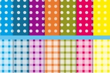 textura lunares cuadros pattern - Patrón o Pattern a Lunares y Cuadriculado en Vectores