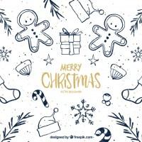 Texturas navideñas dibujadas a mano y en vectores