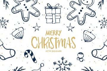 textura navidena en vectores gratis - Texturas navideñas dibujadas a mano y en vectores