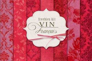texturas florales rojas - Imágenes Gratuitas Florales Ornamenlates