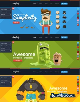 theme wordpress flat style - Template Wordpress con Estilo Flat Design