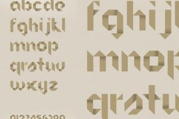 tipografias origami - Tipografía con Efecto Origami