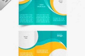 vector triptico plantilla de folleto - Plantillas de Folleto Tríptico para Imprimir