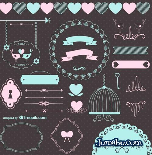 vectores-arabescos-ninos-bebe
