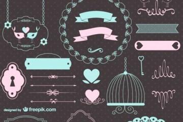 vectores arabescos ninos bebe - Vectores Ornamentales Naif