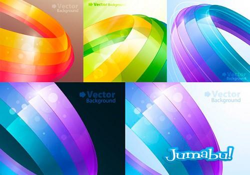 vectores circulares coloridos vectorizados - Fondos Coloridos con Motivos Circulares en Vectores