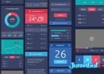 web design flat iconos - Plantilla PSD para Diseñar tu Sitio Web