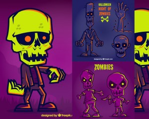 zombies halloween vectores - Zombies en Vectores para Halloween 2015