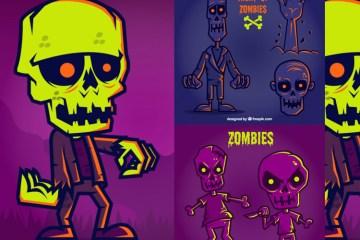 zombies halloween vectores - Zombies en Vectores para Halloween 2015