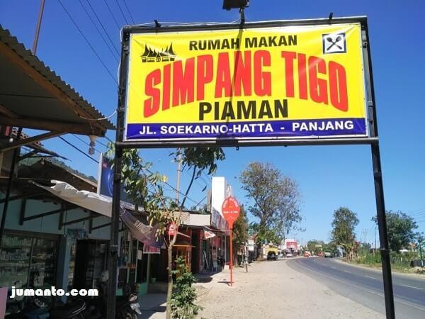 warung makan simpang tigo