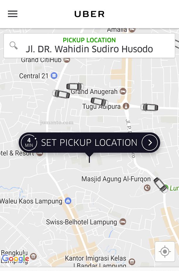 taxi uber lampung