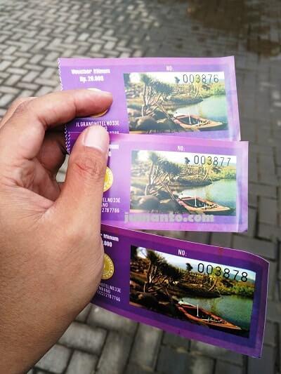 foto tiket biaya masuk floating market lembang bandung