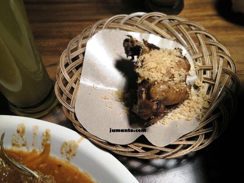 gambar menu ayam bakar kalasan saung sewu resto