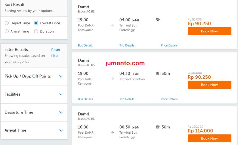 tiket damri online bisa dipesan di traveloka