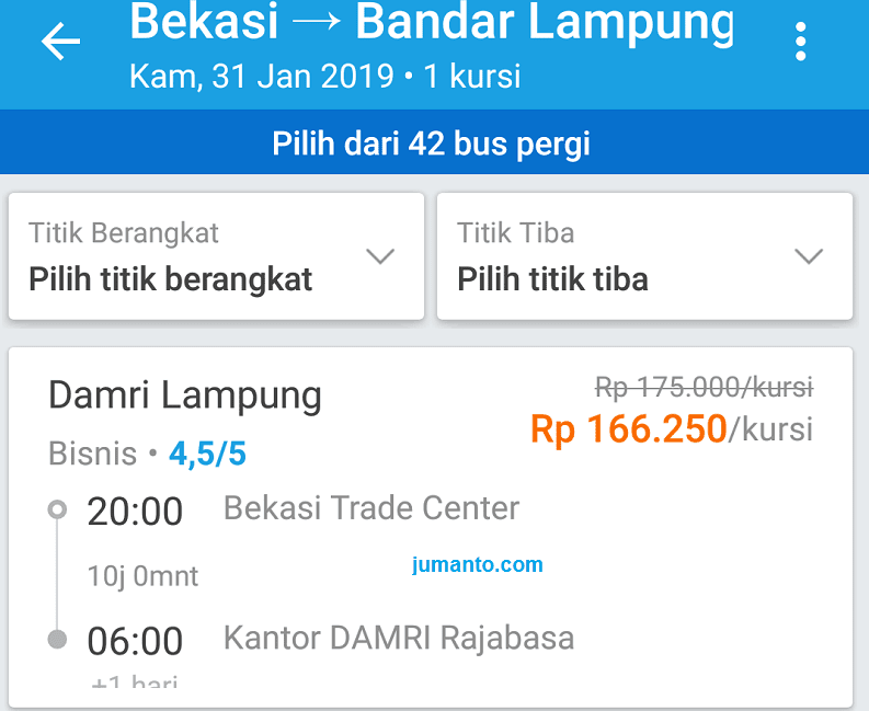 Tiket Damri Bekasi Lampung Bisa Dibeli Secara Online