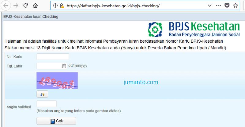 cek tagihan iuran bpjs kesehatan online via bpjs checking