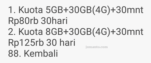 paket internet 3 4g harian mingguan dan bulanan