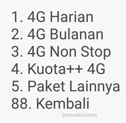 jenis dan harga paket tri 4G