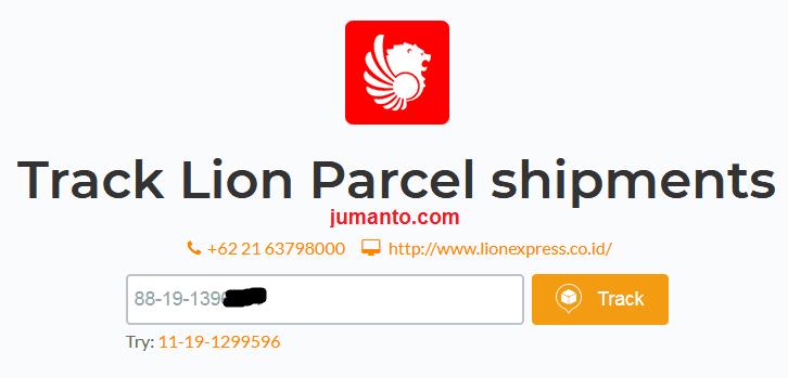 cek resi lion parcel via aftership