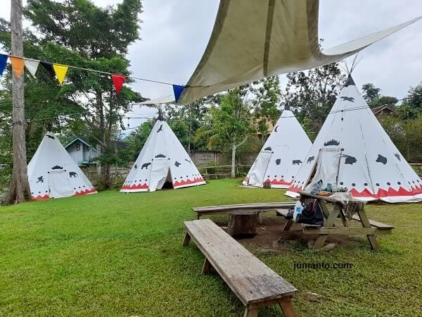 fasilitas tenda camping di wira garden lampung