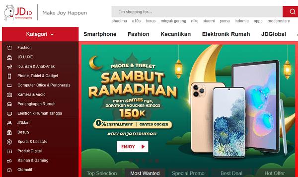 salah satu aplikasi belanja online terbaik di indonesia jd id