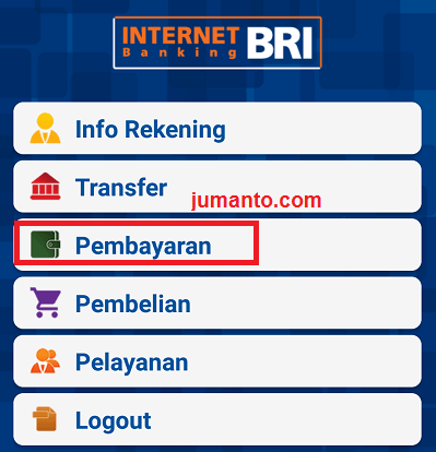 cara top up link aja via bri mobile