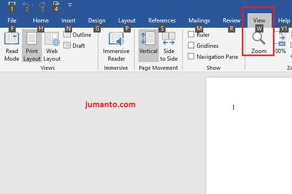 cara cepat menampilkan ruler di word menggunakan shortcut