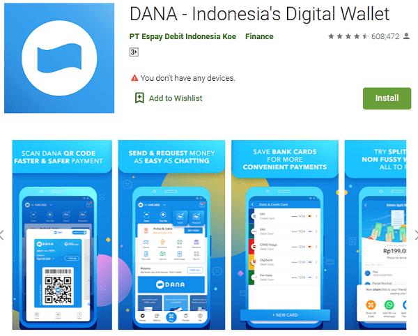 apa itu aplikasi dana, ini penjelasan cara download, daftar, menggunakan dan isi saldo