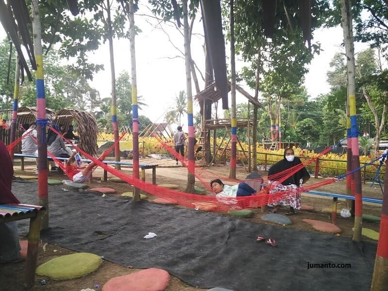 foto wahana permainan anak di umbul helau kemiling bandar lampung