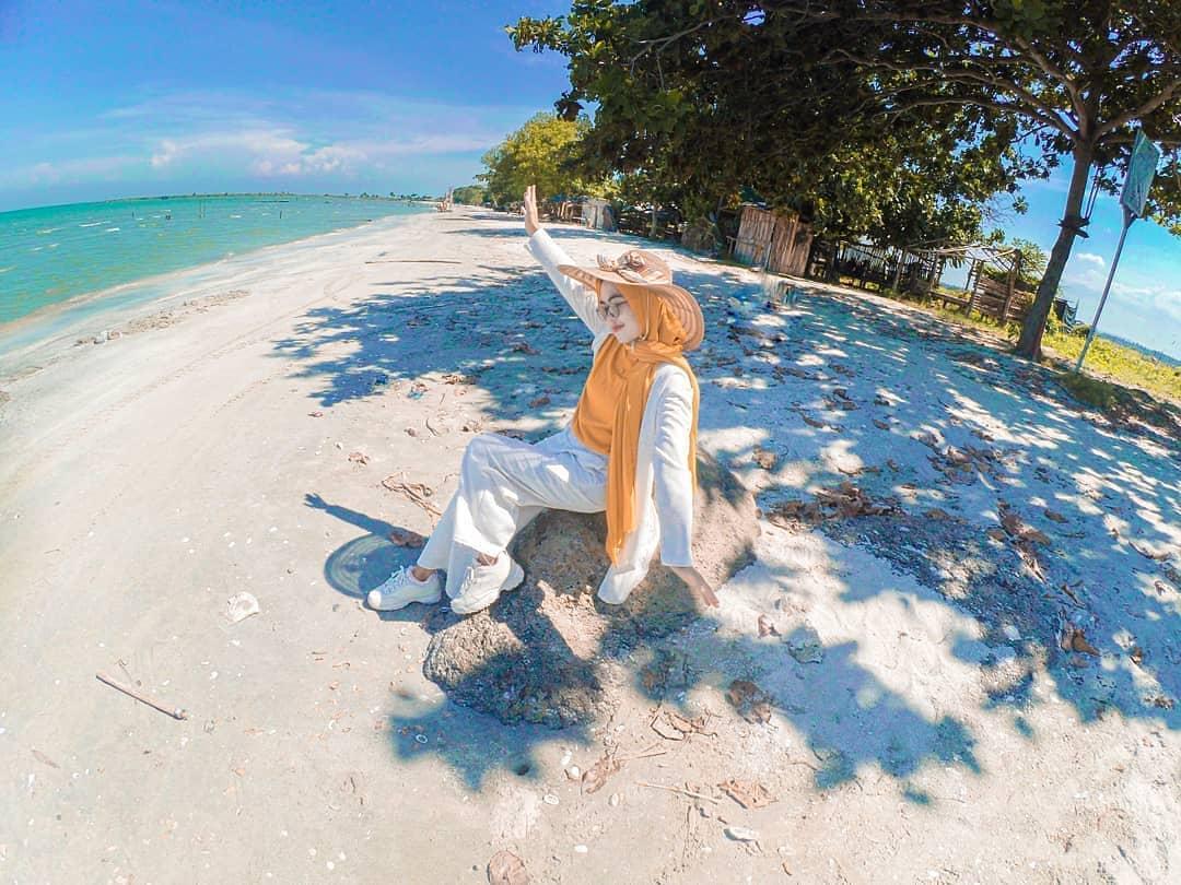 foto pantai kerang emas lampung timur