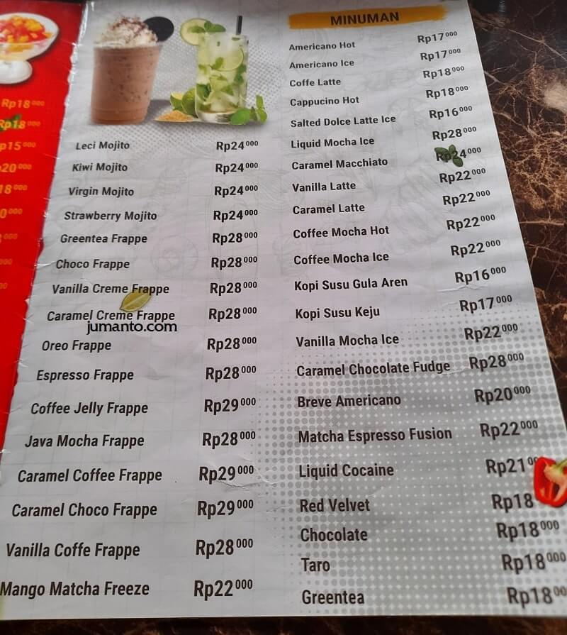 Daftar Menu dan Harga D'Krucil Cafe & Resto Lampung (5)