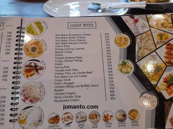 harga dan Menu roti di Ikisopoto Cafe bandar lampung