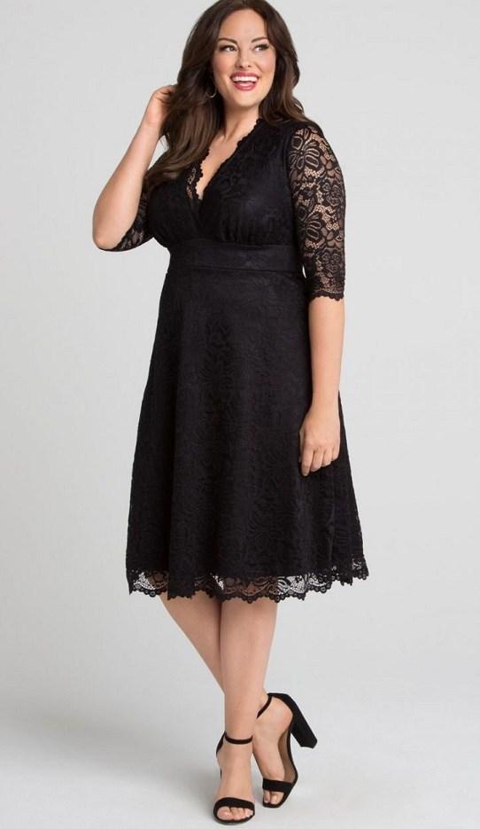 Plus Size Black Lace Dress   Black Lace Dresses Designed for ...