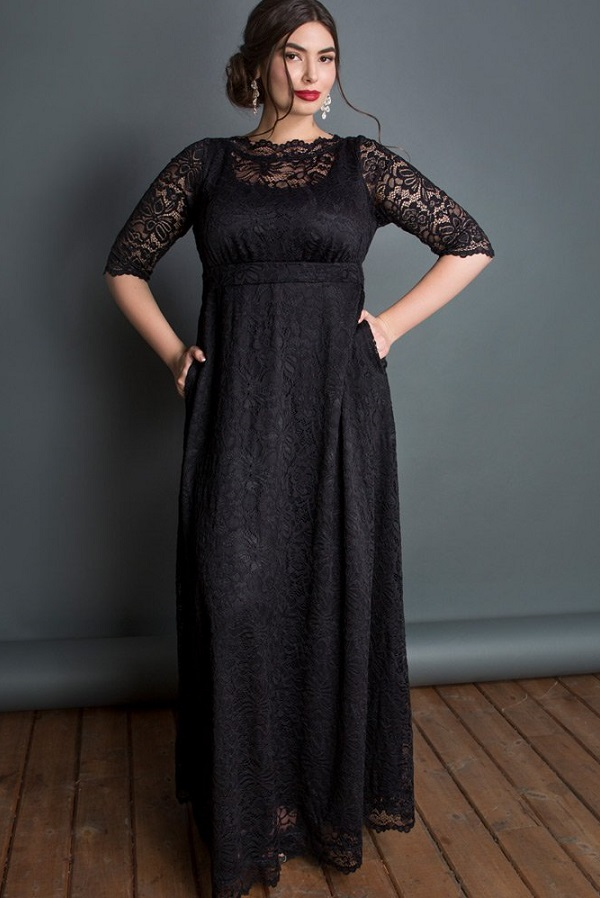 Plus Size Black Maxi Dresses With Sleeves - Classic Styles in Plus ...
