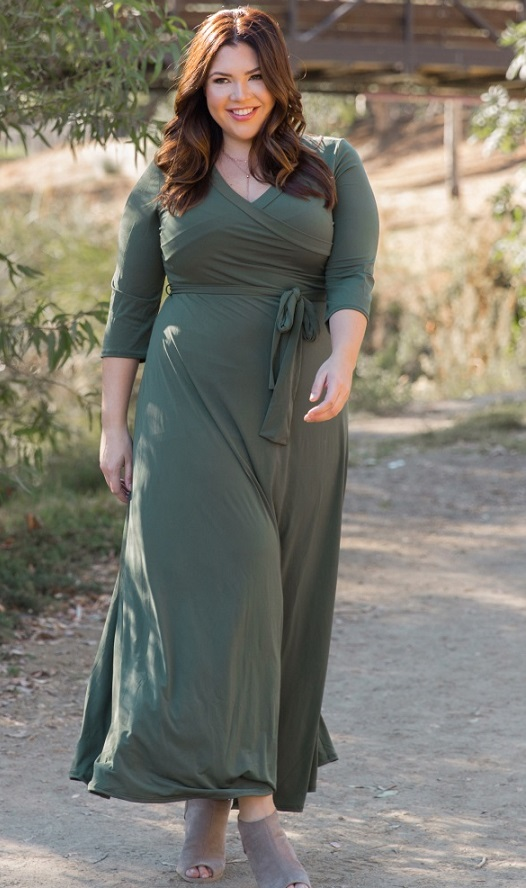 Plus Size Green Wrap Dresses. Find The Perfect Style Green ...