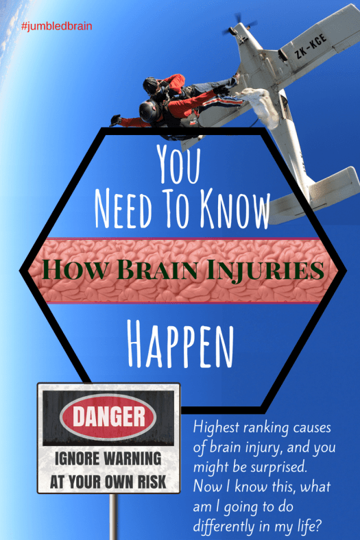 Highest ranking causes of brain injury, and you might be surprised. Now I know this, what am I going to do differently in my life?