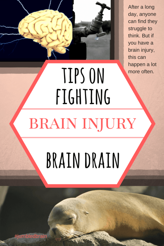 My blog on living with a brain injury: Fed up of feeling worn out? Try my tips.