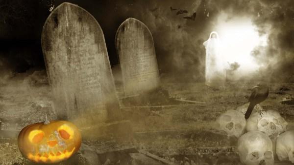 Spookachtig kerkhofje
