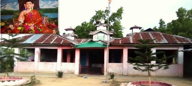 A luri Temple and a Buddha Statue